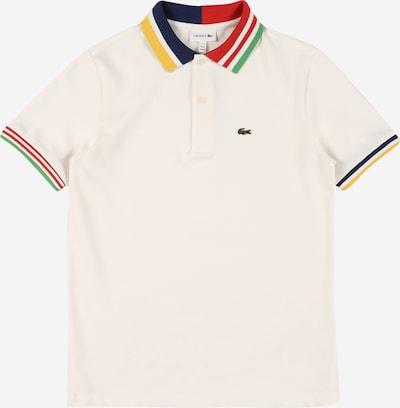 LACOSTE T-Shirt en bleu marine / citron vert / vert clair / rouge feu / blanc, Vue avec produit