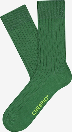 CHEERIO* Socks 'TOUGH GUY' in Green, Item view