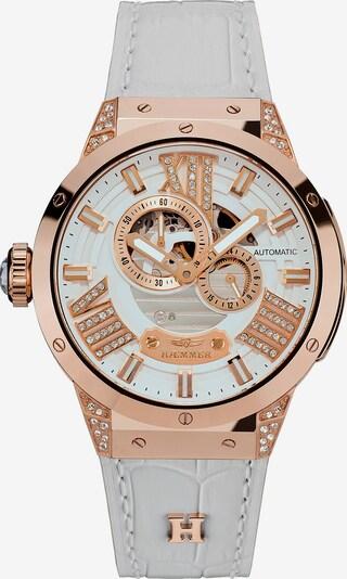 HAEMMER Uhr in rosegold / transparent / weiß, Produktansicht
