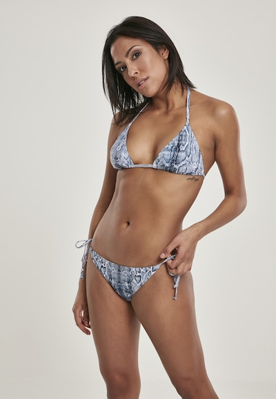 Urban Classics Bikini in taubenblau, Modelansicht