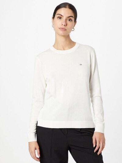 Calvin Klein Пуловер в черно / бяло: Изглед отпред