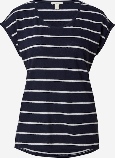 EDC BY ESPRIT T-shirt en bleu marine / blanc, Vue avec produit