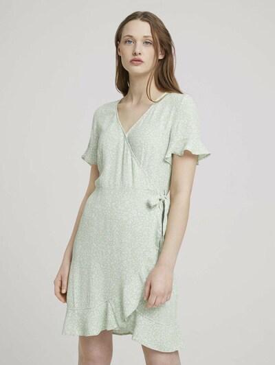 TOM TAILOR DENIM Kleid in mint / weiß, Modelansicht