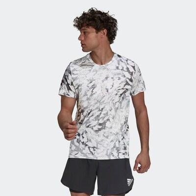 ADIDAS PERFORMANCE Shirt in anthrazit / hellgrau / weiß: Frontalansicht