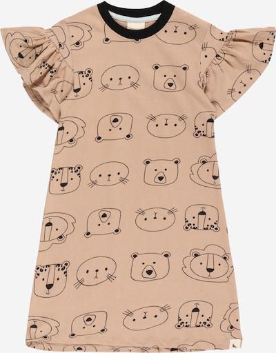 Turtledove London Jurk 'Cub Face' in de kleur Lichtbruin / Zwart, Productweergave