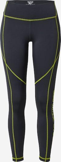 Reebok Sport Športové nohavice - neónovo žltá / čierna, Produkt
