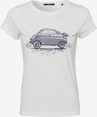 zero Shirt in blau / schwarz / weiß, Produktansicht