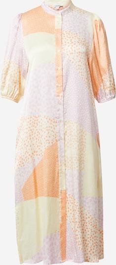 mbym Blusekjole 'Melika' i beige / lyselilla / abrikos / mandarin, Produktvisning