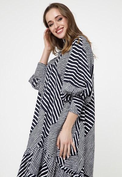 Madam-T Kleid 'Paliana' in schwarz / weiß, Modelansicht