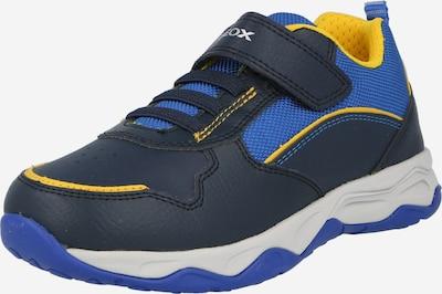 GEOX Baskets 'CALCO' en bleu marine / bleu roi / jaune, Vue avec produit