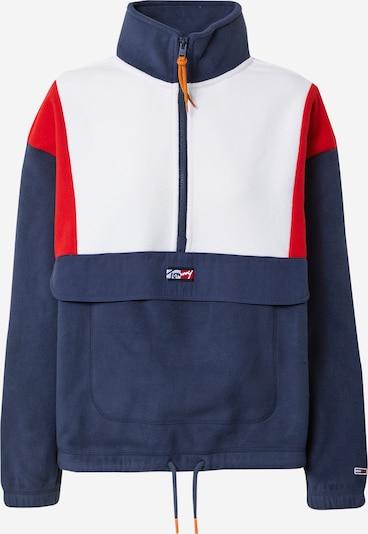 Tommy Jeans Širok pulover | marine / rdeča / bela barva, Prikaz izdelka