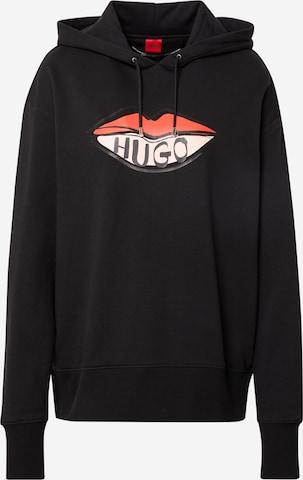 HUGO Sweatshirt 'Dreala' in Schwarz