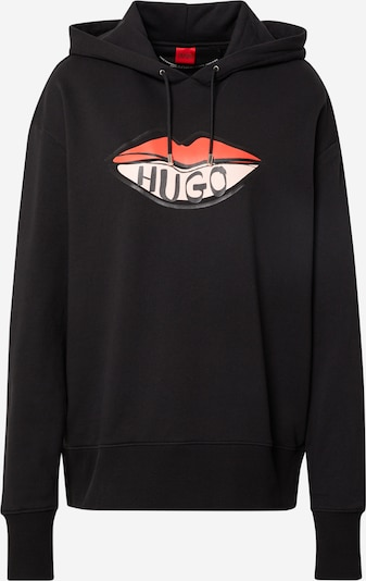 HUGO Sweatshirt 'Dreala' in Pastel pink / Light red / Black, Item view