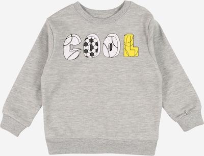 MINOTI Sweat en jaune / gris chiné / noir / blanc, Vue avec produit