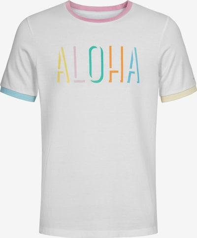 COLOURS & SONS T-Shirt 'Aloha DUST' in mischfarben / weiß, Produktansicht