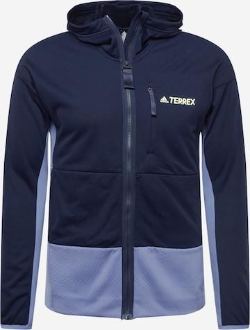 Veste en polaire fonctionnelle 'Zupahike' adidas Terrex en bleu