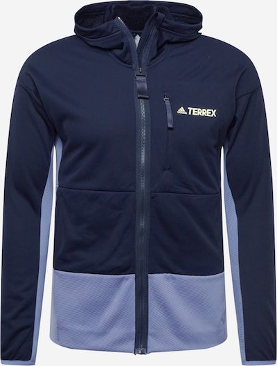 adidas Terrex Fleecejacke 'Zupahike' in dunkelblau / gelb / flieder, Produktansicht