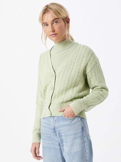 ABOUT YOU Gebreid vest 'Vivian' in de kleur Groen, Modelweergave