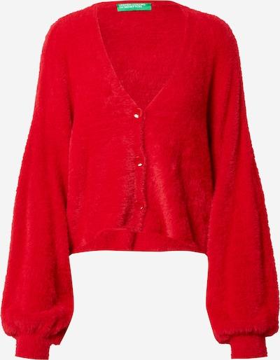 Geacă tricotată UNITED COLORS OF BENETTON pe roșu, Vizualizare produs