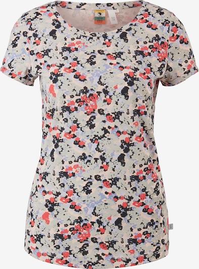 Q/S designed by T-shirt en bleu / gris / orange / noir, Vue avec produit