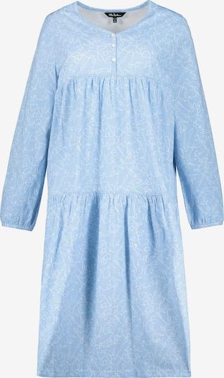 Ulla Popken Nachthemd in de kleur Lichtblauw / Wit, Productweergave