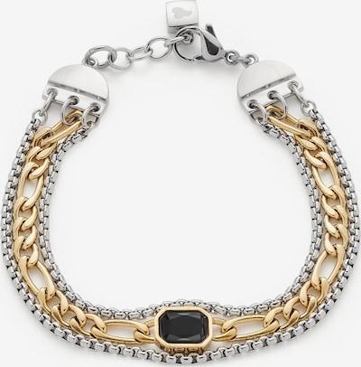 LEONARDO Armband in gold / schwarz / silber, Produktansicht