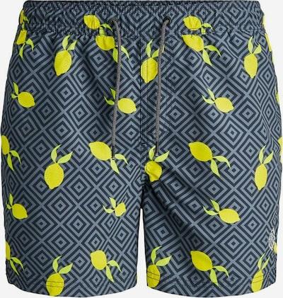 JACK & JONES Plavecké šortky - žlutá / šedá / antracitová, Produkt