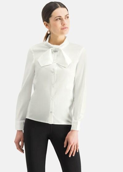 Nicowa Schluppenbluse 'BONIWA' in weiß, Modelansicht