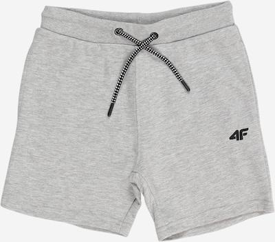 4F Sportshorts in hellgrau / graumeliert / schwarz, Produktansicht