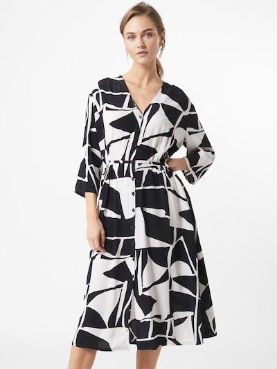 Masai Kleid 'Nini' in schwarz / weiß: Frontalansicht