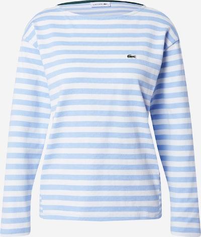 LACOSTE Shirt in de kleur Lichtblauw / Wit, Productweergave