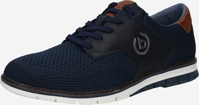 bugatti Chaussure de sport à lacets en bleu foncé, Vue avec produit