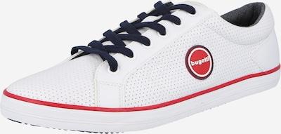 bugatti Športni čevlji z vezalkami 'ALFA' | mornarska / svetlo rdeča / bela barva, Prikaz izdelka