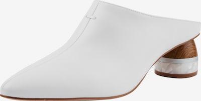 Ekonika Clogs aus echtem Leder in weiß: Frontalansicht