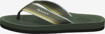 GANT T-Bar Sandals 'Palmworld' in Green