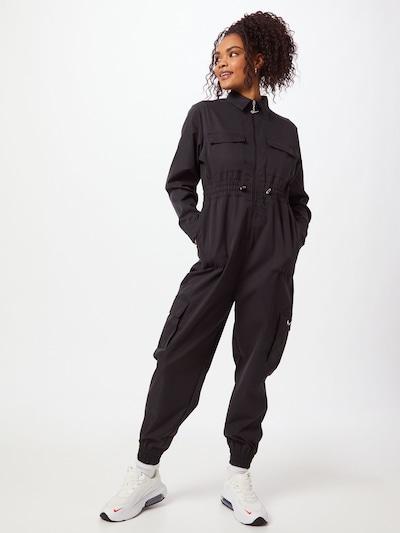 Tuta jumpsuit Nike Sportswear di colore nero / bianco, Visualizzazione modelli