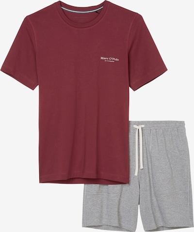 Marc O'Polo Pyjama in hellgrau / rot, Produktansicht