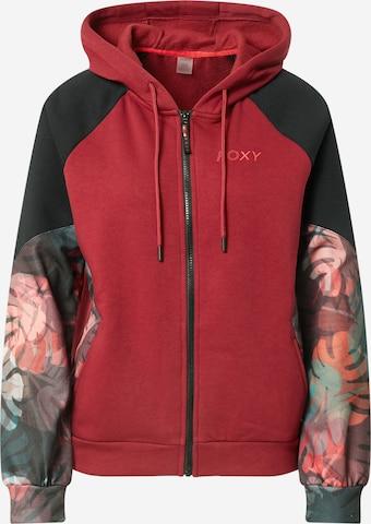 ROXY Спортна жилетка с качулка 'CLAP YOUR HANDS' в червено