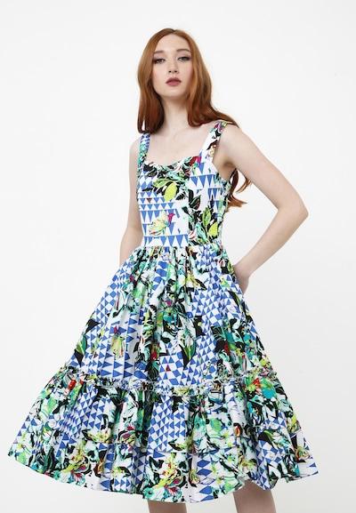 Madam-T Sommerkleid 'KERSTIN' in blau / grün / weiß, Modelansicht