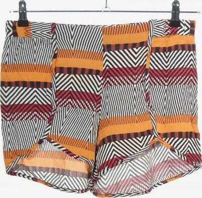 Tezenis High-Waist-Shorts in M in hellorange / schwarz / weiß, Produktansicht