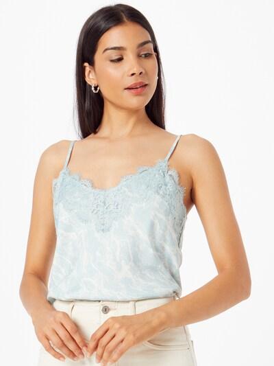 Bluză rosemunde pe azur / alb, Vizualizare model