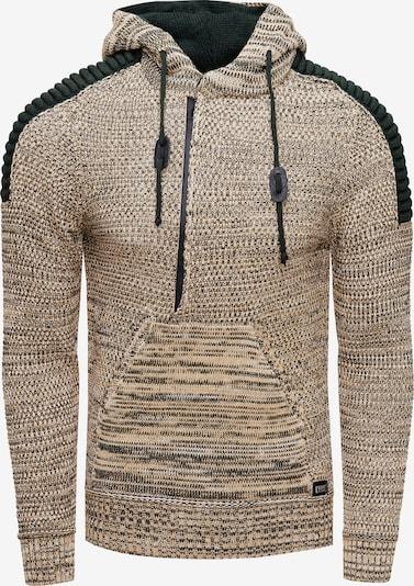 Rusty Neal Pullover 'Knitwear' in beige / schwarz, Produktansicht