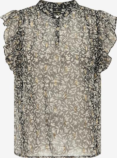DreiMaster Klassik Bluse in gold / schwarz / weiß, Produktansicht