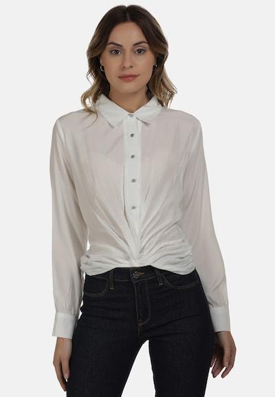 DreiMaster Maritim Bluse in weiß, Modelansicht