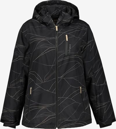 Ulla Popken Skijacke in schwarz, Produktansicht
