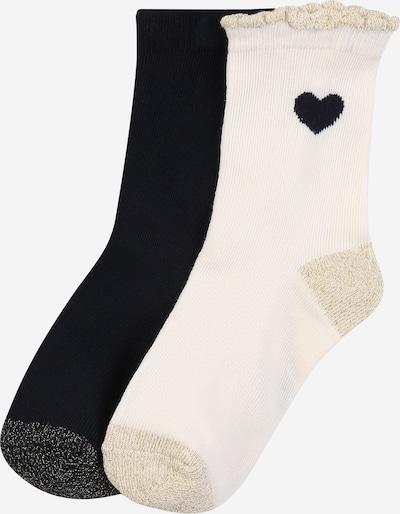 PETIT BATEAU Socken in creme / dunkelblau / puder, Produktansicht