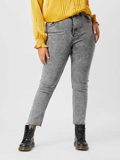 ONLY Carmakoma Jeans in grau, Modelansicht