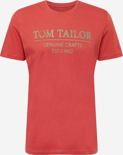 TOM TAILOR Camiseta en amarillo limón / rojizo, Vista del producto