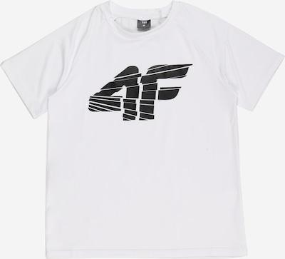 4F Sportshirt in schwarz / weiß, Produktansicht