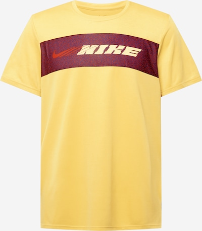 NIKE T-Shirt fonctionnel en jaune, Vue avec produit